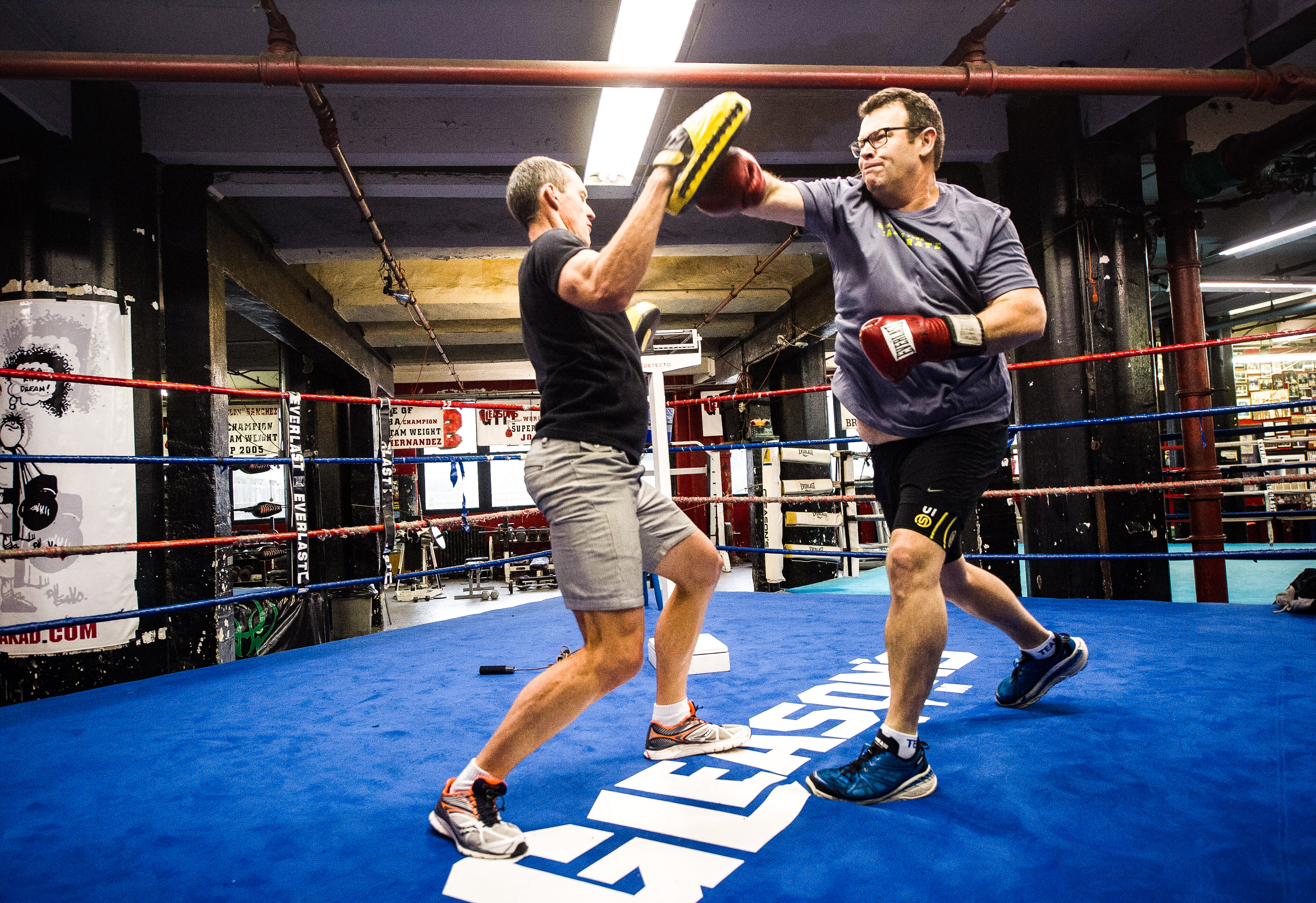 GWMM Gus in boxing ring-2014