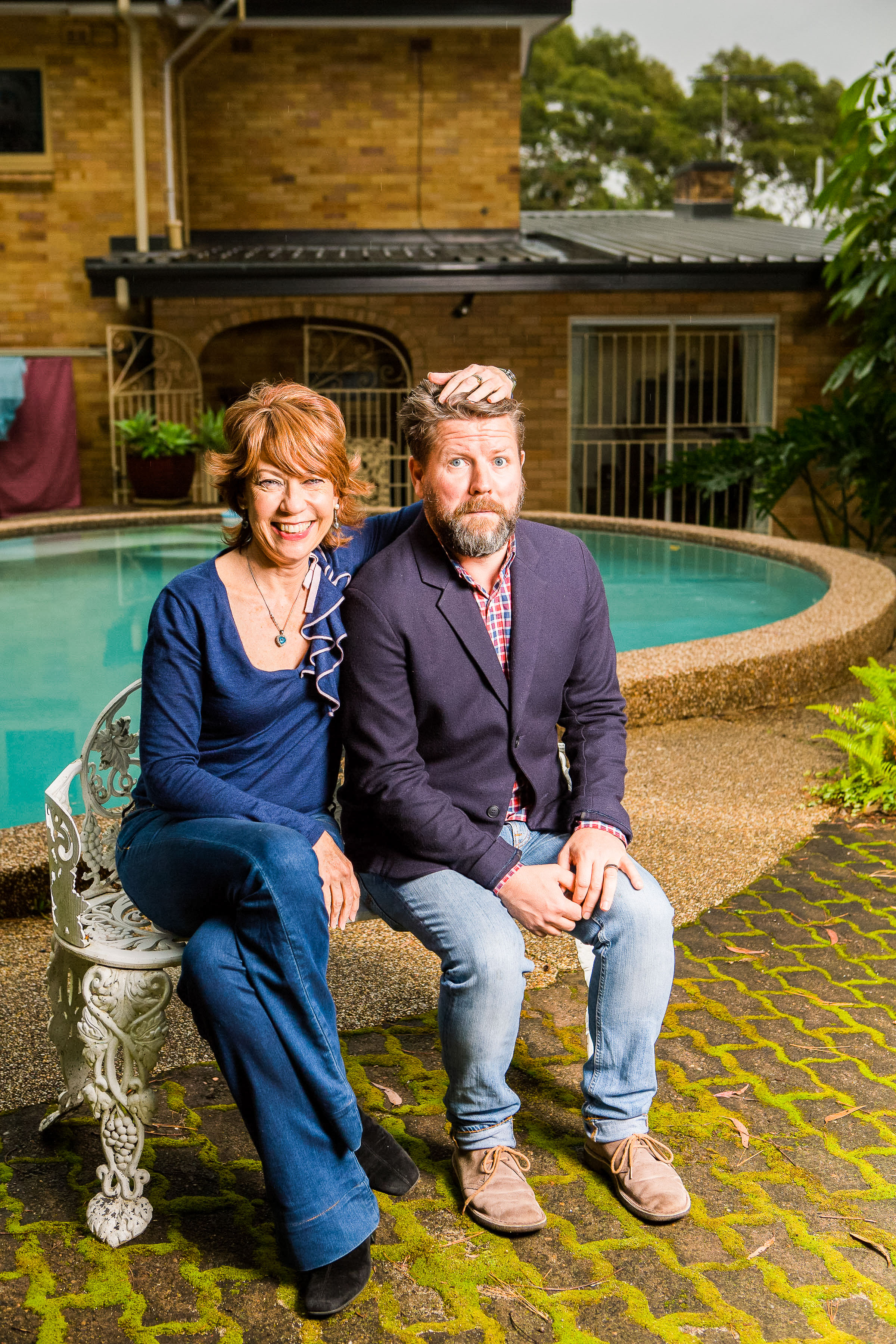 SOYT Tim and Kathy Lette by pool-2